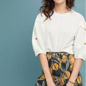 Current Air Anthropologie Cyrus Puff Sleeve Top